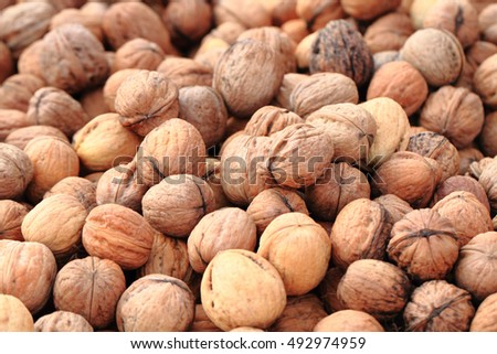 wallnuts texture as nice natural food background