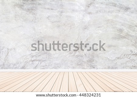 Wallpaper Cement wall gray background Abstract style residential buildings. On the floor plank parquetry style abstract concept design ideas.