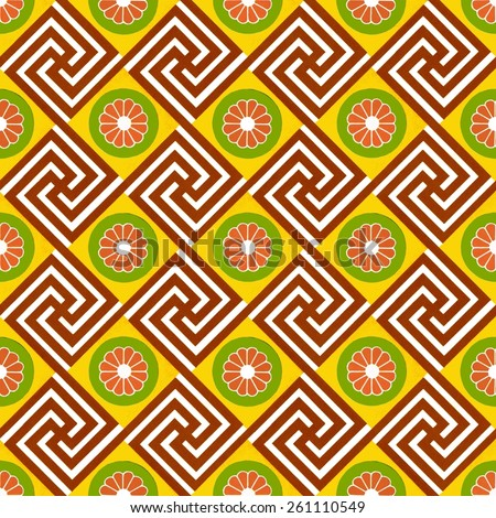 wallpaper design derived from patterns on ancient Egyptian buildings. - stock photo