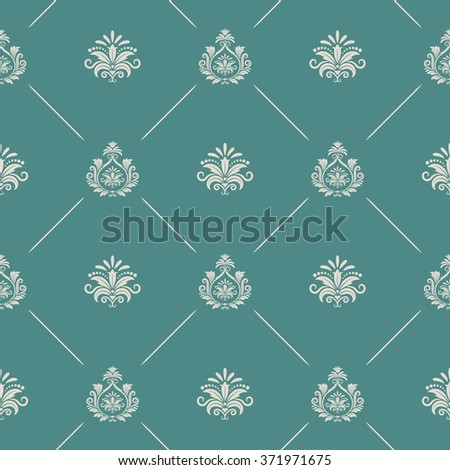 Wallpaper in royal baroque style - stock photo