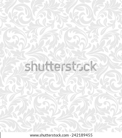 Wallpaper in the style of Baroque. A seamless  background. Floral pattern. - stock photo