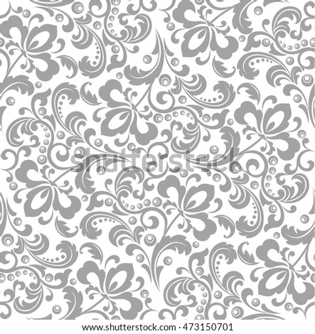 Wallpaper In The Style Of Baroque A Seamless Background Gray And White Texture