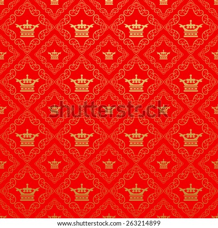 Wallpaper Old Style for Your Design. Image Red Color. - stock photo