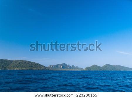 Wallpaper View Ocean Panorama  - stock photo