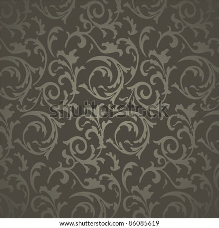 Wallpaper with floral ornament