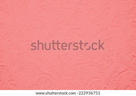 Wallpaper with light decorative texture for building repair decoration interiors. Pink coral color. Minimalism style  - stock photo