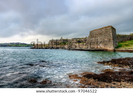 Walls and bastions of Charles Fort. Kinsale. Ireland. - stock photo
