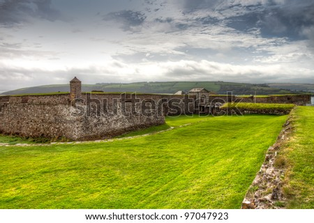 Walls and bastions of Charles Fort. Kinsale - Ireland. - stock photo