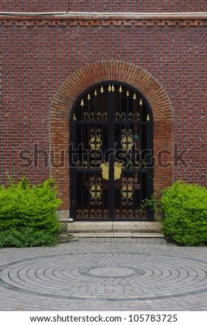 Walls and doors - stock photo