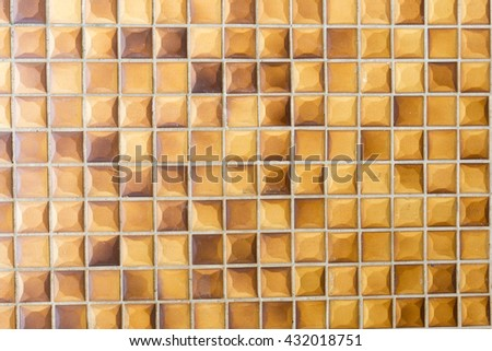 walls are made of brown brick. The small brick wall brown. - stock photo