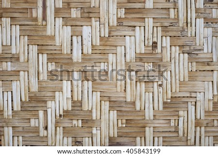Walls house handmade of bamboo.