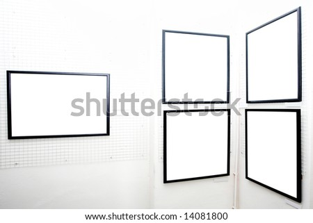 walls in museum with empty frames