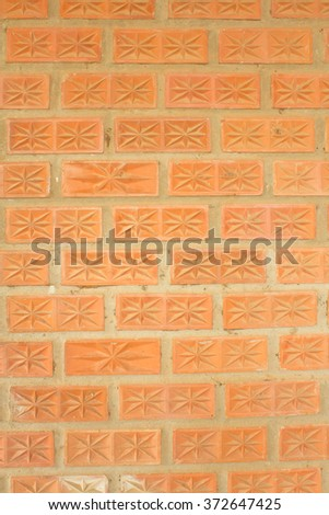 Walls of a home built with the brick walls. - stock photo