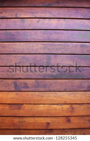 Walls, teak wood, teak wood, good to be aligned horizontally. - stock photo