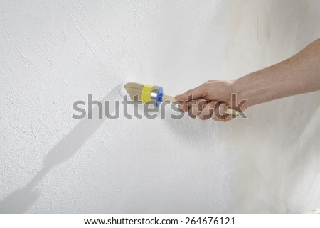 Walls with paint and plaster shape and structure  - stock photo