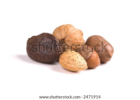 walnut, almond, pecan, hazelnut, brazil nut