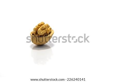 walnut alone - stock photo