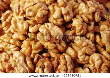 Walnut background - stock photo