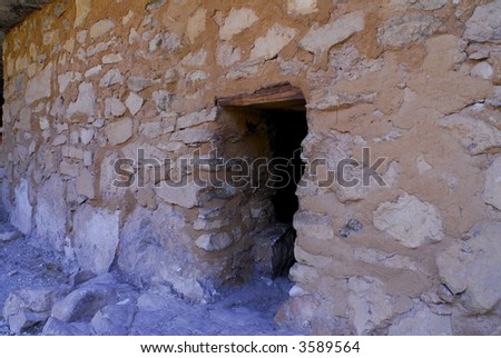 Walnut Canyon Cliff Dwelling - stock photo