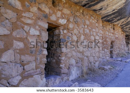 Walnut Canyon National Monument Cliff Dwelling - stock photo
