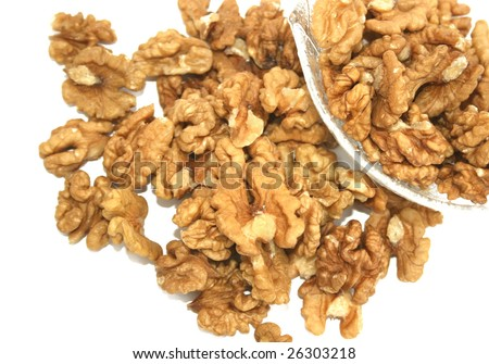 Walnut isolated on white background.