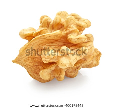 Walnut isolated on white background - stock photo