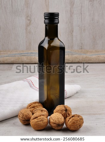 Walnut oil - stock photo