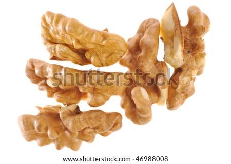 walnut on white background - stock photo