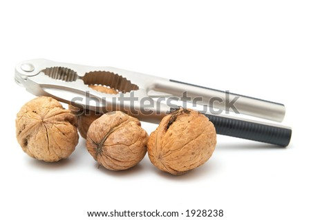 Walnuts and nutcracker.