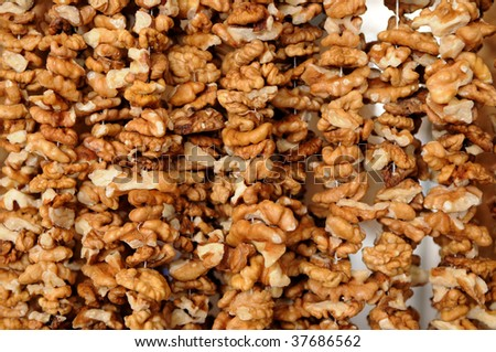 Walnuts background
