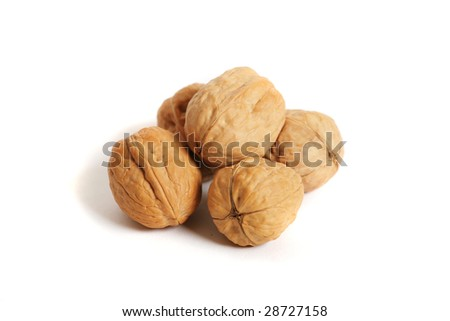 Walnuts (isolated on white) - stock photo