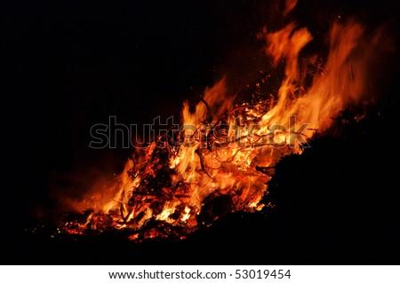 Walpurgis Night bonfire - stock photo