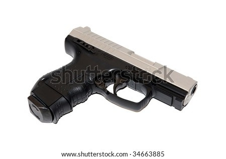 Walter air gun, pretending to look like a real one - stock photo