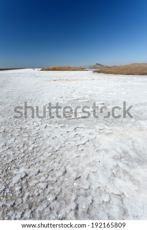 Walvis Bay Salt Works in Namibia, Africa