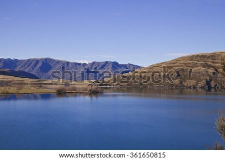 Wanaka landscape scenery, South Island, New Zealand - stock photo