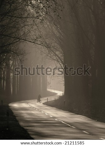 wander into the unknown - stock photo