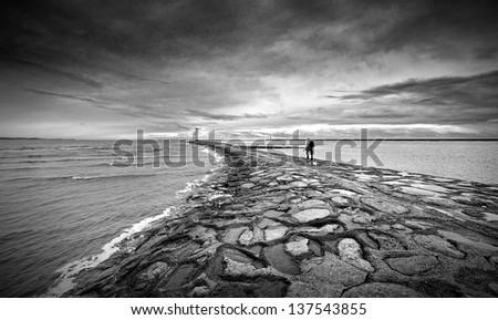 Wanderer - stock photo