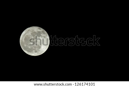 Waning gibbous Moon with space for text or copy