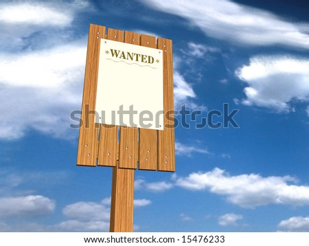 Wanted - stock photo