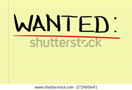 Wanted Concept - stock photo