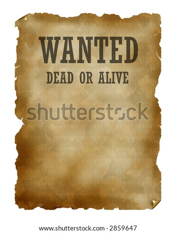 Wanted dead or alive - stock photo
