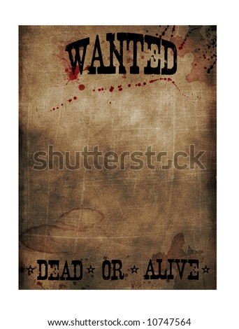 Wanted dead or alive sign paper - stock photo