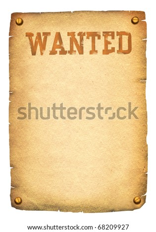 Wanted poster.Background