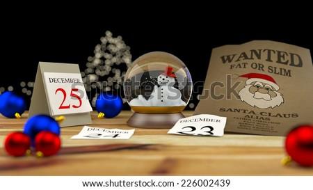 Wanted Santa Claus - stock photo