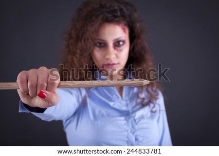 war against terrorism, the concept of freedom of speech and media - stock photo
