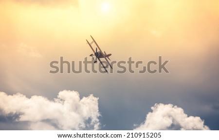 War airplane - stock photo