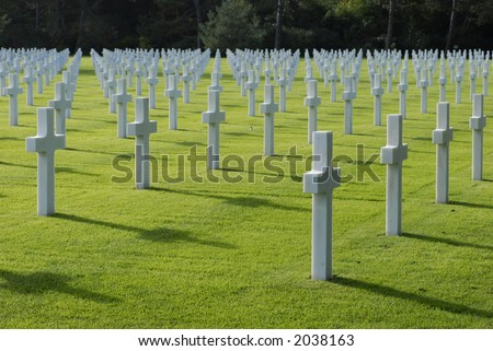War Cemetery - stock photo
