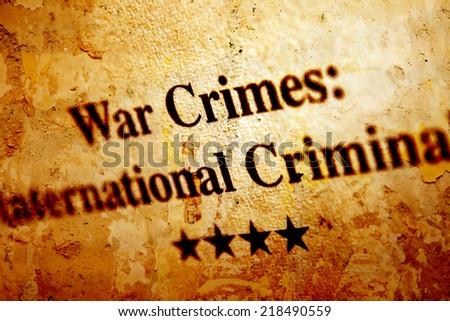 War crime - stock photo