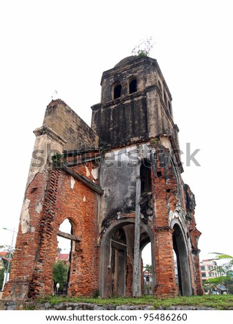 War Evidence of Tam Toa Church Steeple, Vietnam