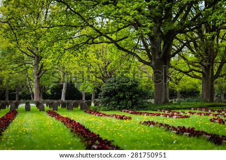 War graves, Hamburg, Germany, Ohlsdorf cemetery